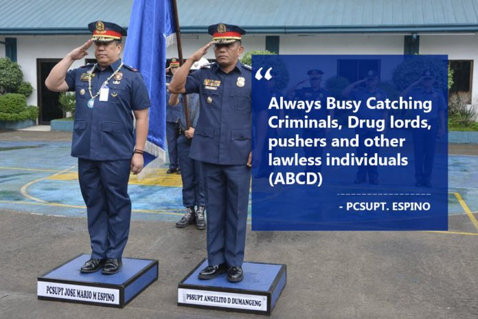Always Busy in Catching Criminals, Drug lords, pushers and other lawless individuals (ABCD) by Jose Mario Espino