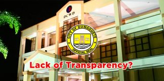 dumaguete city water district lack of transparency